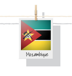 photo of mozambique flag vector image