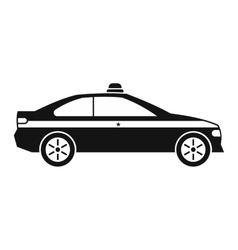 Police car black icon vector image