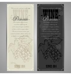 Premiun wine menu vector