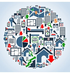 Property services market set vector