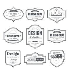 Retro design creative vintage labels vector