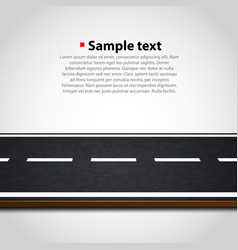 road background vector image vector image