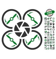 Shutter drone icon with bonus vector