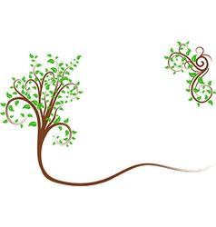Swirl tree vector image vector image