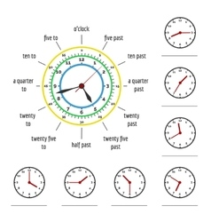 Telling time vector