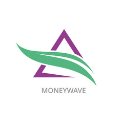 triangle money wave logo vector image