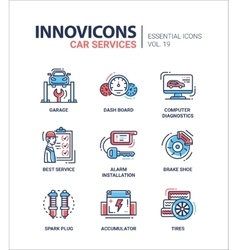 Car services modern thin line design icons and vector