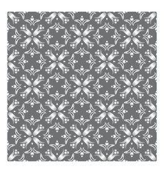 Elegant floral pattern with pearl grey flowers and vector