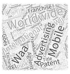 Worldwide mobile marketing corp goes international vector