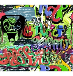 Graffiti wall urban background seamless vector