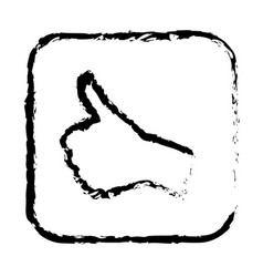 contour symbol goodhand icon vector image