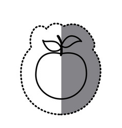 Figure apple fruit icon vector