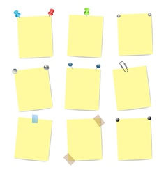 set of yellow stickers vector image