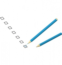 Check box pencil vector