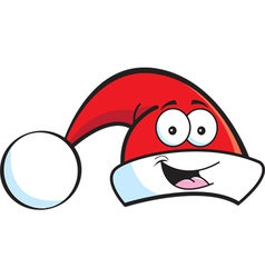 Cartoon santa hat vector