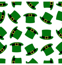 Seamless hats background vector image