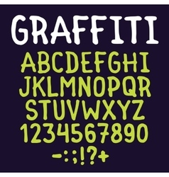 Hand drawn graffiti letters set vector