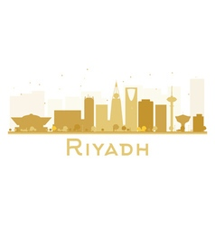 Riyadh city skyline golden silhouette vector