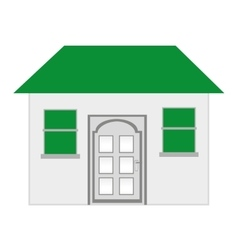 House exterior isolated icon design vector