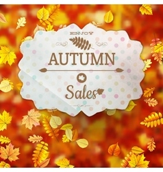 Autumn fall sale poster EPS 10 vector image vector image