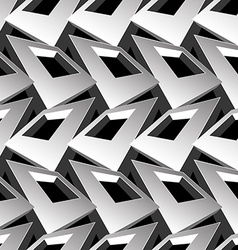 Black and white 3d square abstract seamless vector