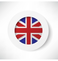 Britain flag button vector