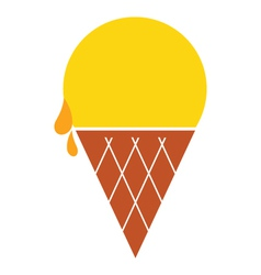 Colorful ice-cream icon vector