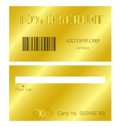Discount card vector