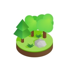 Green forest isometric 3d icon vector