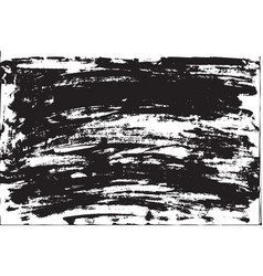 grunge background brush strokes of black paint vector image