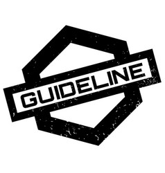 Guideline rubber stamp vector