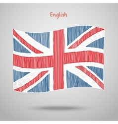 Hand drawn great britain flag vector