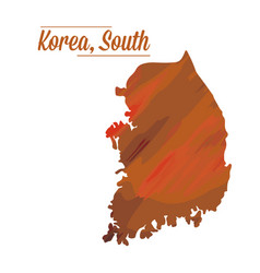 isolated south korean map vector image