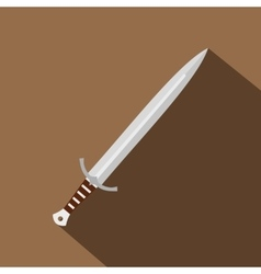 Long sword icon flat style vector