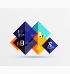 modern flying square infographic vector image vector image