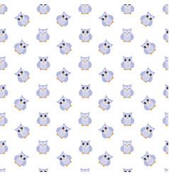 Owls cute pattern vector