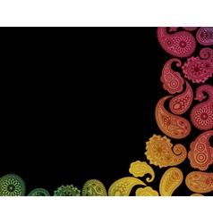 Paisley Card vector image