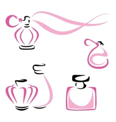 Perfume containers vector