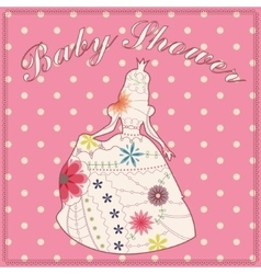 Princess vintage silhouette baby shower vector image vector image