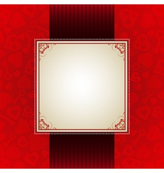 red valentine background with many hearts vector image