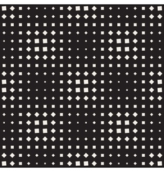 Seamless black and white square halftone vector