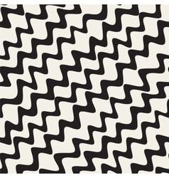 Seamless hand drawn wavy diagonal stripes vector