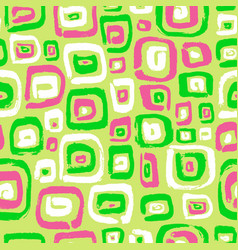 Seamless pattern with abstract square elements vector