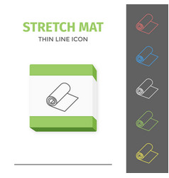 Simple line stroked stretch exercise mat vector