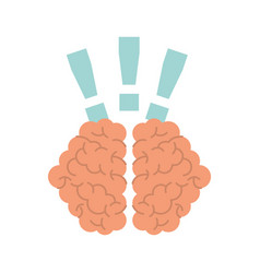storm brain with exclamation mark isolated icon vector image