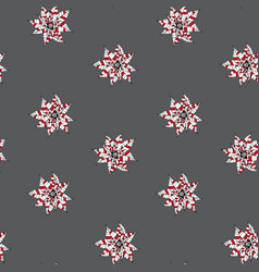 Stylized decorative pointsettia christmas seamless vector