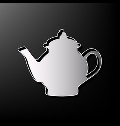 Tea maker sign gray 3d printed icon on vector
