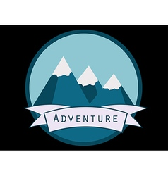 Trip to the mountains vector