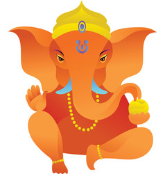 Yoga icons Ganesh statue vector image vector image