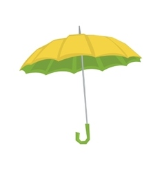 Open classic elegant umbrella vector